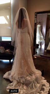 Essence Of Australia 'EDD199801' size 12 new wedding dress back view on bride