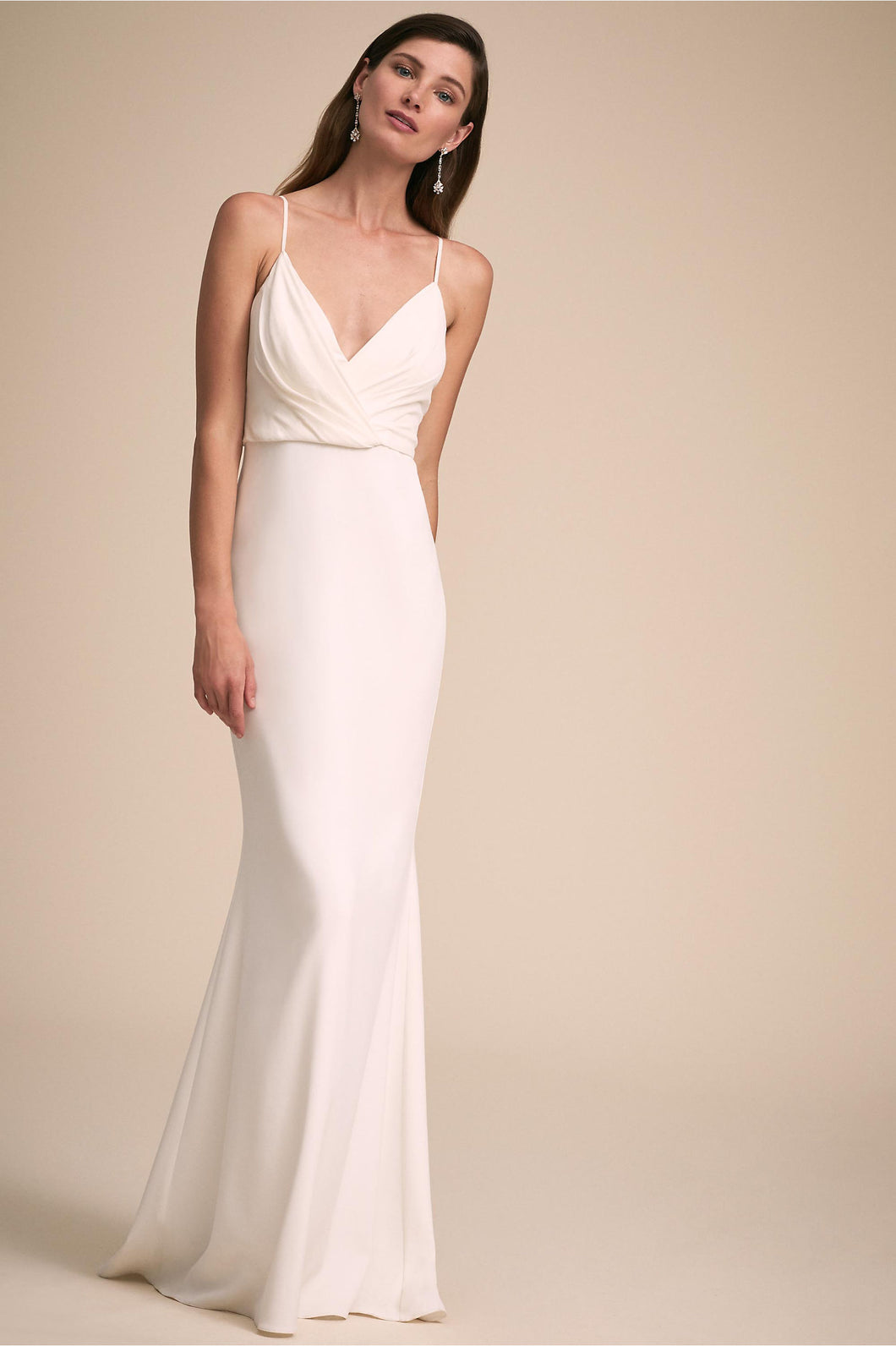 Badgley Mischka 'At Last' size 6 new wedding dress front view on model