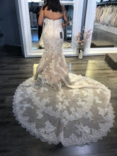 Load image into Gallery viewer, Enzoani 'Melanie' size 10 new wedding dress back view on bride