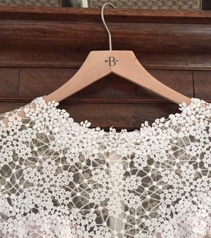 BHLDN 'Beautiful' size 8 used wedding dress front view on hanger