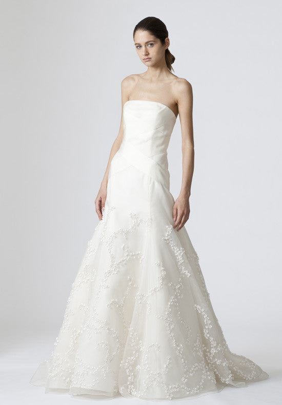 Vera Wang Devon Silk Organza Gown with Bolero - Vera Wang - Nearly Newlywed Bridal Boutique - 1