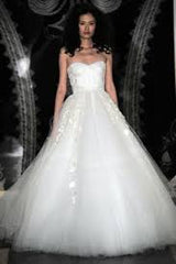 Reem Acra 'Ourania' size 10 sample wedding dress front view on model