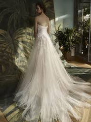 Enzoani Blue 'Kailee' size 4 new wedding dress back view on model