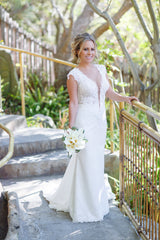 Berta '2016' size 4 used wedding dress front view on bride