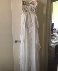 David's Bridal 'Romantic' size 6 new wedding dress back view on hanger