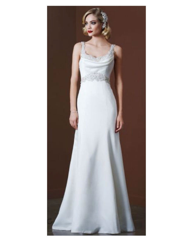 Galina 'SWg564' size 8 new wedding dress front view on model