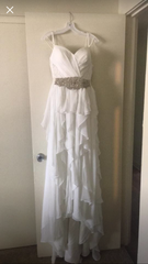 David's Bridal 'Romantic' size 6 new wedding dress front view on hanger