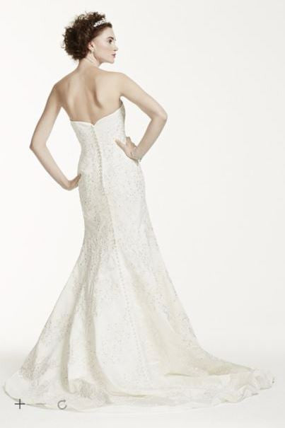 Oleg Cassini 'Satin Lace Strapless' - Oleg Cassini - Nearly Newlywed Bridal Boutique - 3