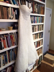 White one 'Lace Dress' - W1 - Nearly Newlywed Bridal Boutique - 3