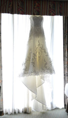 Jasmine Couture Bridal 'T346' size 6 used wedding dress front view on hanger