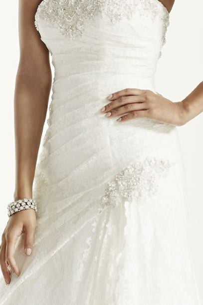 David's Bridal 'A-Line Lace' - David's Bridal - Nearly Newlywed Bridal Boutique - 5