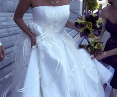 Jorge Manuel Tulle Ball Gown with Embroidery - Jorge Manuel - Nearly Newlywed Bridal Boutique - 4