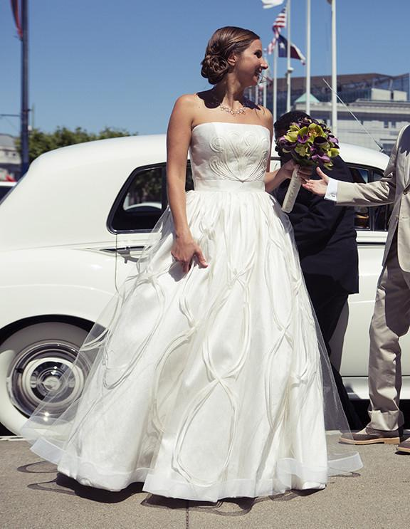 Jorge Manuel Tulle Ball Gown with Embroidery - Jorge Manuel - Nearly Newlywed Bridal Boutique - 1