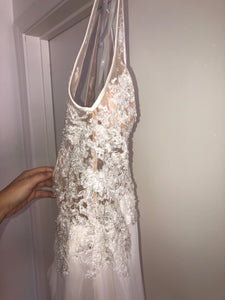 Mori Lee 'Malin' size 6 new wedding dress side view on hanger