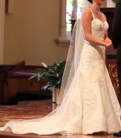 Angel Rivera Custom Re-Embroidered Lace - Angel Rivera - Nearly Newlywed Bridal Boutique - 5