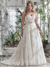 Load image into Gallery viewer, Maggie Sottero 'Kimaya' size 18 new wedding dress front view on model