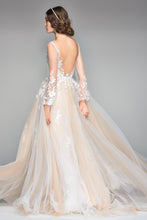 Load image into Gallery viewer, Watters 'Saros' size 8 new wedding dress back view on model