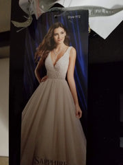 Alfred Angelo 'Sapphire' size 10 new wedding dress front view on model