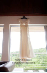 J. Mendel 'Limited Edition Anniversary' size 2 used wedding dress front view on hanger