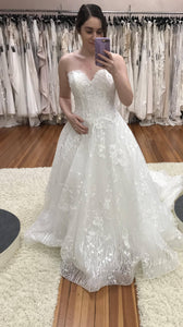 Mon Cheri Bridal 'Coda' size 8 new wedding dress front view on bride