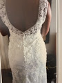 Allure Bridals 'Madison James 12' size 10 used wedding dress back view on bride