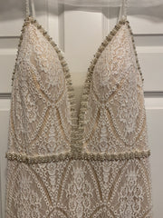 Mon Cheri Bridal 'Enchanting' size 12 new wedding dress front view on hanger