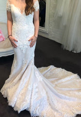 Rosa Clara 'Abel' size 12 sample wedding dress front view on bride