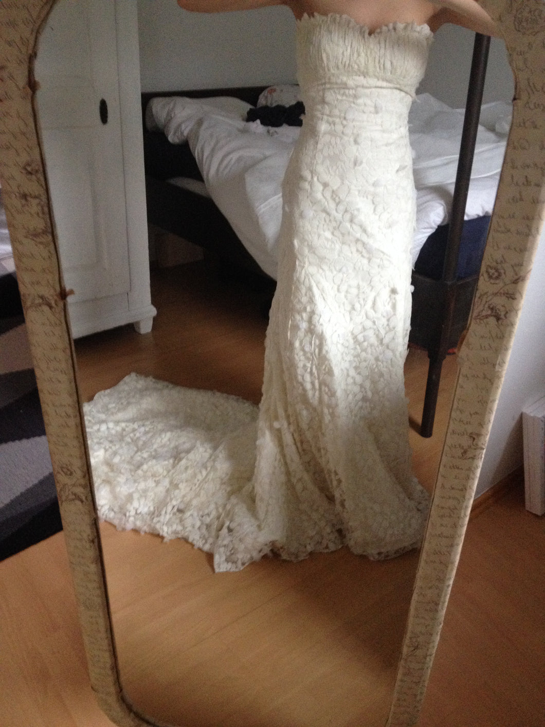 Kirstie Kelly 'Giselle' size 6 used wedding dress front view on bride