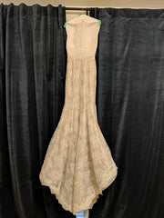 Lian Carlo' 6885' size 10 used wedding dress back view on hanger