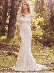 Maggie Sottero 'McKenzie' size 18 new wedding dress front view on model