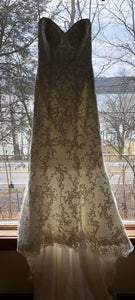 Maggie Sottero 'Chesney' size 2 used wedding dress front view on hanger