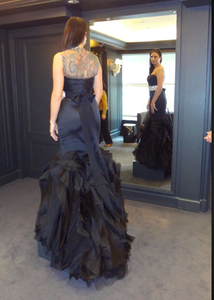 Vera Wang Black Tulle Mermaid Wedding Dress - Vera Wang - Nearly Newlywed Bridal Boutique - 2