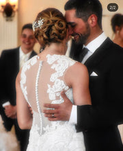 Load image into Gallery viewer, Pnina Tornai 'Mermaid 4474' size 6 used wedding dress back view close up