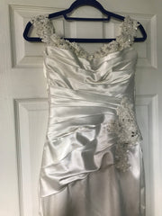 Sophia Tolli 'Magnolia' size 4 used wedding dress front view on hanger