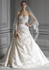 Monique Lhuillier 'Poppy' size 2 new wedding dress front view on model