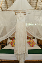 Load image into Gallery viewer, Rue De Seine 'Ferry Night' size 8 used wedding dress front view on hanger