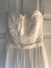 Load image into Gallery viewer, Robert Bullock 'Varro' size 0 new wedding dress front view on hanger