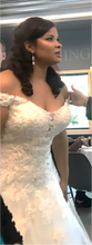 Load image into Gallery viewer, Sophia Tolli 'Vasya' size 14 used wedding dress front view on bride