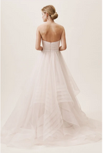 Load image into Gallery viewer, Wtoo 'Garner' size 12 new wedding dress back view on model