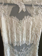 Load image into Gallery viewer, Elie Saab 'Vintage' size 2 used wedding dress front view on hanger