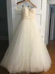Tara Keely '2161' size 8 used wedding dress front view on hanger
