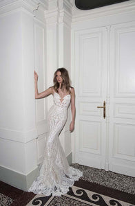 Berta '15-114' size 4 used wedding dress front view on model