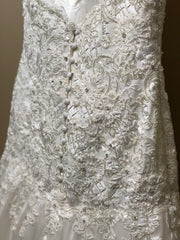 Martina Liana '411' size 10 new wedding dress view of fabric