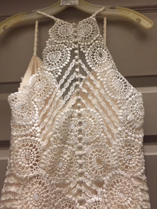 Sottero and Midgley 'Bexley' size 10 used wedding dress back view on hanger