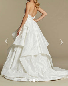 Hayley Paige 'Apollo' size 8 used wedding dress back view on model