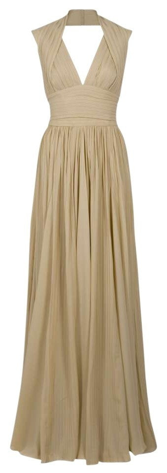 Elie Saab Halter Neck Pleated Silk Gown - Elie Saab - Nearly Newlywed Bridal Boutique - 1