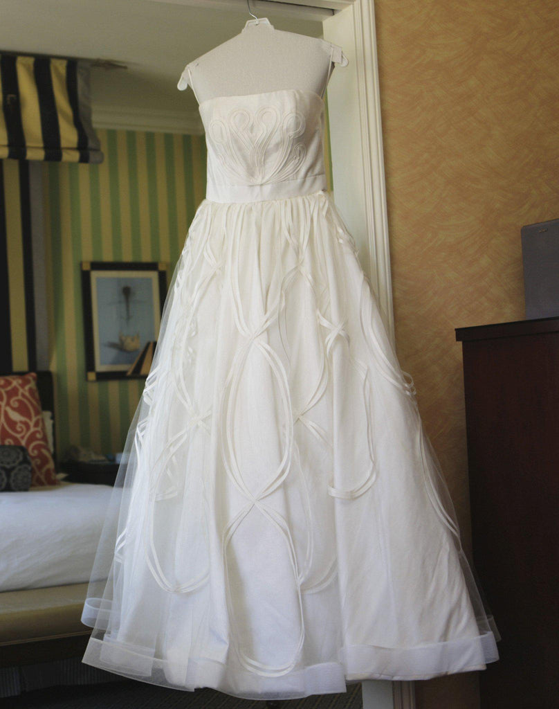 Jorge Manuel Tulle Ball Gown with Embroidery - Jorge Manuel - Nearly Newlywed Bridal Boutique - 2