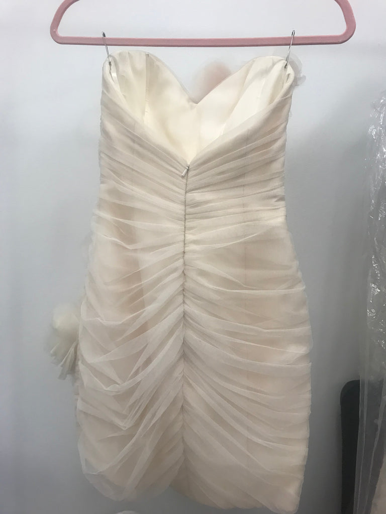 Hayley Paige 'Orchard' size 2 used wedding dress back view on hanger