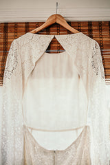 Houghton 'Chante' size 8 new wedding dress back view on hanger