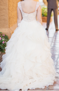 Allure Bridals '9110' wedding dress size-10 PREOWNED